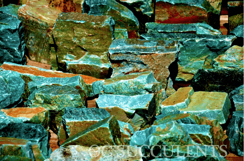 Turquoise Landscape Rock from OC Succulents